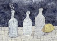 古い瓶のある風景